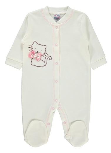 Misket Misket Kız Bebek Patikli Tulum 0-3 Ay Narçiçeği Misket Kız Bebek Patikli Tulum 0-3 Ay Narçiçeği Pembe
